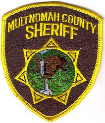 Sheriff: OR, Multnomah Co. Sheriff Patch (cap size)