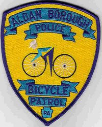 Aldan Borough Bicycle Patrol Police Patch (PA)
