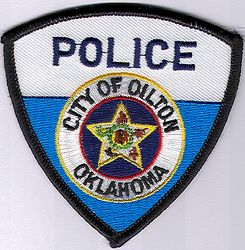 Oilton City Police Patch (cap size) (OK)