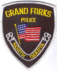 Grand Forks Police Patch (black/white edge) (ND)
