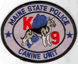 State: ME. State Police Canine Unit Patch