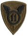 11th INFANTRY DIVISION W/O TAB (SUBDUED)