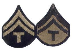 Unissued 1942 Pattern Chevrons - T5 (Technician Fifth Grade)