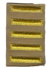 Unissued World War II Overseas Service Bars - Khaki