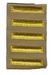 Unissued World War II Overseas Service Bars - Khaki