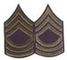 Unissued Chevrons - MSG (Master Sergeant) - OD On Blue Felt