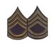 Unissued Chevrons - T/SGT (Technical Sergeant) - OD On Blue Felt