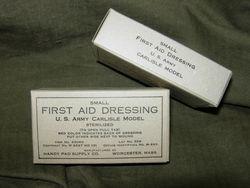 WWII UNISSUED First Aid Bandage - Carlisle Model