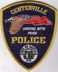 Centerville Police Patch (gold edge) (GA)
