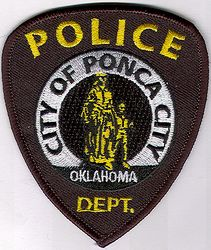 Ponca City Police Dept. Patch (cap size)(OK)