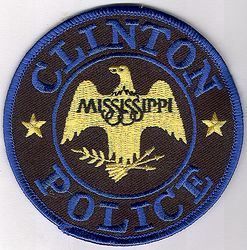 Clinton Police Patch (blue edge) (MS)