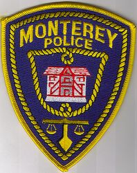 Monterey Police Patch (yellow edge/embroidered) (CA)