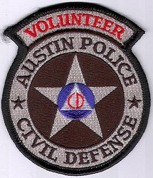 Austin Civil Defense Volunteer Police Patch (TX)