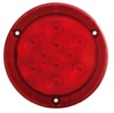 "4"" Round Sealed LED Stop/Turn/Tail Light with Reflex Flange STL43RBX"