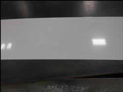 ROMEO BUMPER REAR FILLER PANEL, 8 X 69 WHITE ALUMINUM 19-018-005