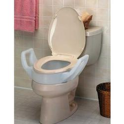 RAISED TOILET SEAT ELONGATED W/ARM 1504S