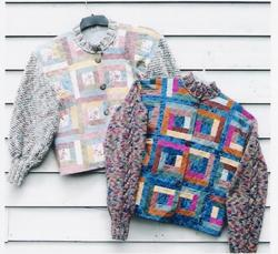 Nancys Quilted Jacket w/Knitted sleeves