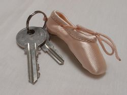 Pillows for Pointe - Mini Pointe Shoe Key Ring
