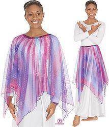 Child Single Handkerchief Metallic Tulle Skirt