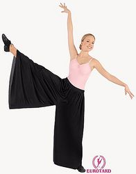 Child Polyester Palazzo Pants w/ Elastic Waist