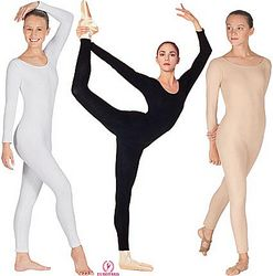 Plus Size Long Sleeved Ankle Length Unitard