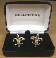 Fleur de Lis Gold/Silver-tone Cufflinks