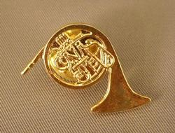 Horn Pin - Bright Brass