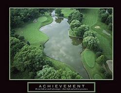 Achievement Golf Poster 2 28x22