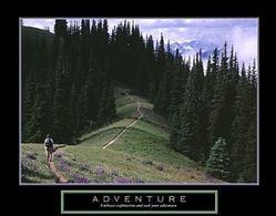 Adventure Hiker Poster 28x22