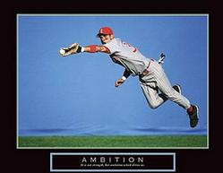 Ambition Baseball Poster 28x22