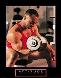 Attitude Weightlifter Poster 22x28