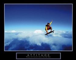 Attitude Skydiver Poster 28x22