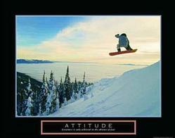 Attitude Snowboarder Poster 28x22