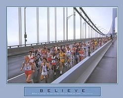 Believe Marathon Poster 28x22