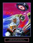 Breakaway Hockey Slapshot Poster 22x28