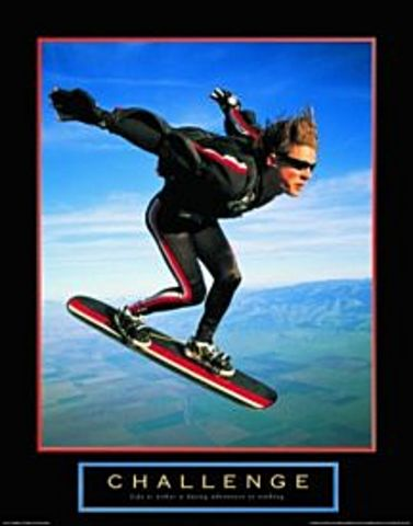 Challenge Air Trick Poster 22x28