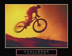 Challenge Biker Poster 28x22