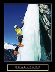 Challenge Ice Climber Poster 22x28