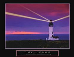 Challenge Lighthouse Poster 28x22