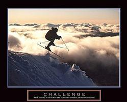 Challenge Skier Poster 28x22