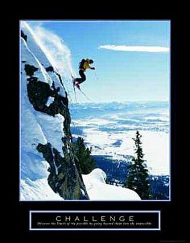 Challenge Skier Poster 22x28