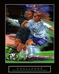 Challenge Girls Soccer Poster 22x28