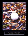Character Golf Tees Poster 22x28