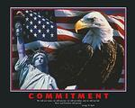 Commitment Eagle Poster 28x22