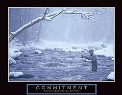 Commitment Fisherman Poster 28x22