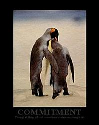 Commitment Penguins Poster 22x28