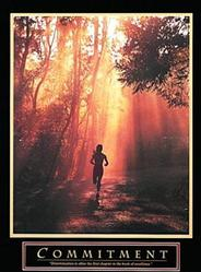 Commitment Runner Poster 22x28