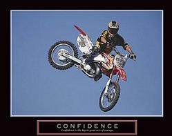 Confidence Biker Poster 28x22