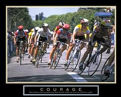 Courage Bike Race Poster 28x22