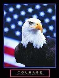 Courage Eagle & Flag 22x28